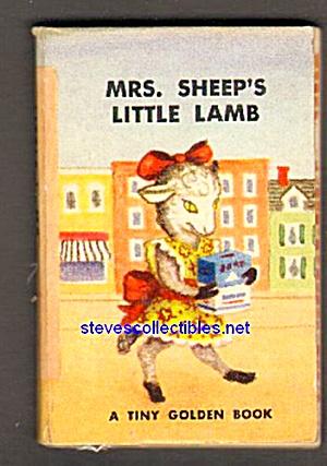 MRS. SHEEP'S LITTLE LAMB Tiny Golden Book - 1949 (Image1)