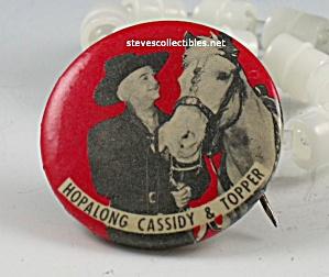 Vintage Hopalong Cassidy Pinback Button (Image1)