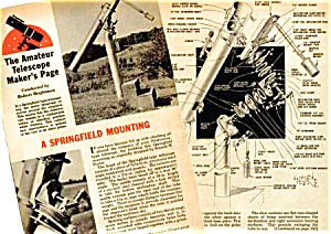 1957 Build A Springfield Telescope Mounting Mag Article