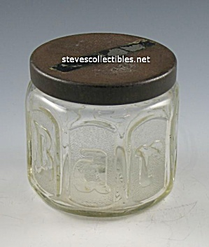 Jar+Patent Art: EARLY BARBASAL Shaving Cream JAR (Image1)
