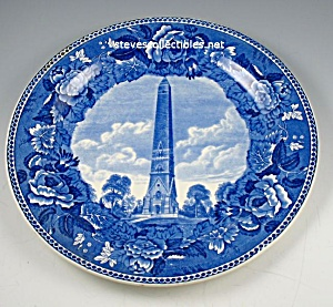 WEDGWOOD Saratoga Battle Monument COMMEMORATIVE PLATE (Image1)