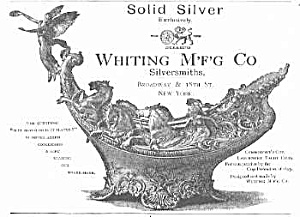 Unusual 1894 Ornate Whiting Silver Mag. Ad