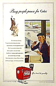 Nice 1953 COCA COLA DISPENSER Magazine Ad (Image1)