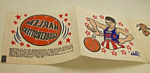 1970 Harlem Globetrotters Iron On Transfers Basketball