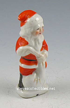 Lot of Vintage Christmas: SANTA CLAUS Porcelain + Candles (Image1)