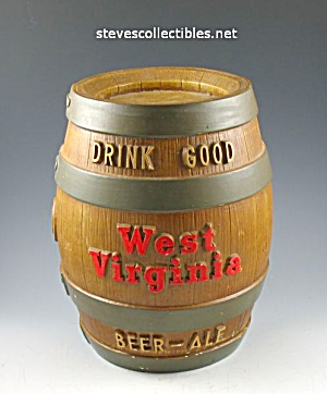RARE Fesenmeier Brewing WEST VIRGINA BEER Adv. Coin Bank (Image1)