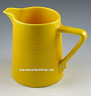 Vintage HARLEQUIN POTTERY Pitcher - SUNSHINE YELLOW (Image1)