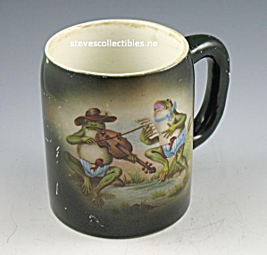 ADVERTISING STEIN - Frog Musician OLD Taylor Smith Taylor (Image1)