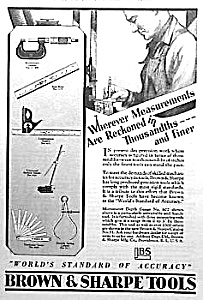 1929 BROWN & SHARPE Tool Ad L@@K! (Image1)