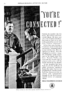 1934 BELL TELEPHONE Old '202' Phone Ad (Image1)