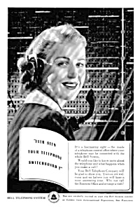 1939 BELL TELEPHONE SWITCHBOARD Operator Ad (Image1)