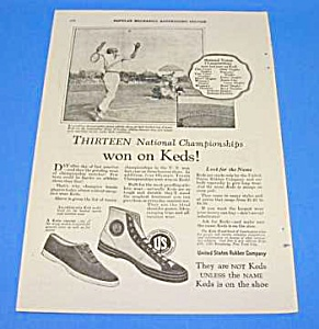 1925 TENNIS THEMED - Keds Shoe Ad (Image1)
