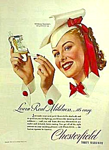 Cool 1940 CHESTERFIELD GRADUATE Cigarette Ad (Image1)