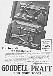 1924 GOODELL-PRATT Machinists Tool Ad (Image1)