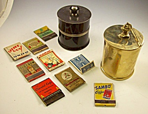 Vint.lot Cigarette Humidor/boxes+matchbooks Sambo