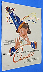 1940 WIZARD THEME Chesterfield Cigarette Ad (Image1)