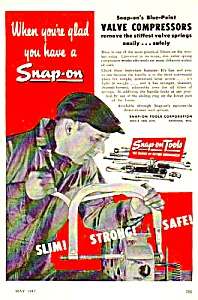 1947 SNAP-ON TOOL Valve Compressors Ad (Image1)