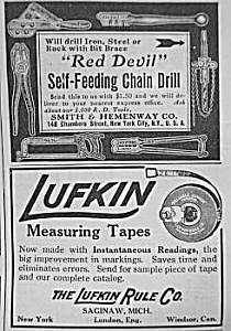 1911 Lufkin Tape Measure Magazine Ad