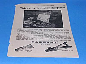 1927 Sargent WOOD PLANE/Tool Ad L@@K! (Image1)