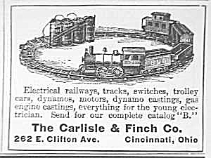 1911 Carlisle & Finch Toy Train Magazine Ad