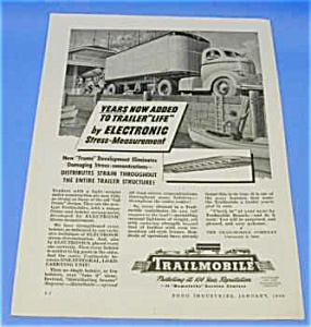 1946 TRAILMOBILE TRUCK Magazine Ad (Image1)