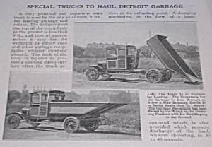 1921 DETROIT - SPECIAL GARBAGE TRUCKS Article (Image1)