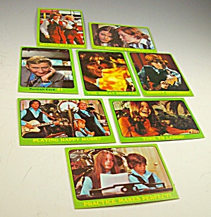 1971 Partridge Family 8 Green Collector Cards Lot 1