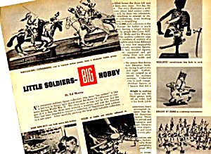 1958 LEAD SOLDIERS TOY Magazine Article (Image1)