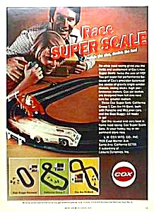 1973 COX Super Scale SLOT CAR Toy Ad (Image1)