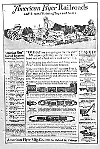 1924 American Flyer Model Railroad - Structo Ad