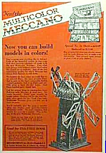 1926 Meccano Erector Set Toy Ad Color