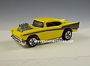 Hot Wheels Loose 1957 Chevy Yello 2dr