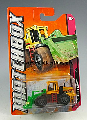 QUARRY KING PAYLOADER Construction Equip. Matchbox Toy  MOC (Image1)