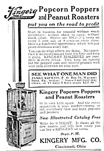 1923 KINGERY POP CORN MACHINE Vending Mag. Ad (Image1)
