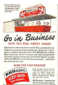 1949 RICHARDSON ROOT BEER Stand Magazine Ad (Image1)