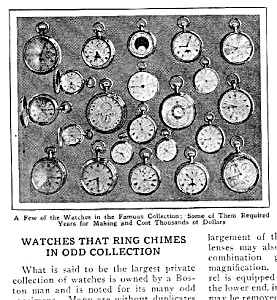 1927 Chiming Pocket Watches Mag. Article