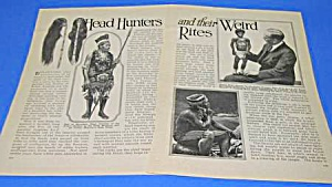 1927 HEAD HUNTERS AND WEIRD RITES Mag Article (Image1)