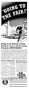 1939 Ny Worlds Fair Greyhound Bus Magazine Ad