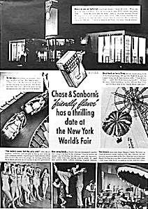 1939 Ny Worlds Fair Ad - Chase & Sanborn