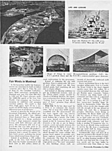 1966 Montreal Expo 67 Magazine Article