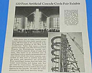 1939 NY WORLDS FAIR CASCADE TOWER Mag Article (Image1)