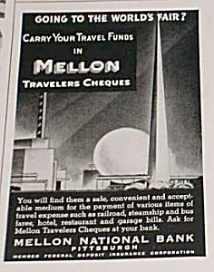 1939 WORLDS FAIR Mellon National Bank Ad (Image1)
