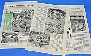 1939 NY WORLDS FAIR City of Tomorrow Mag. Article (Image1)