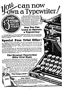 1927 Underwood Typewriter Ad