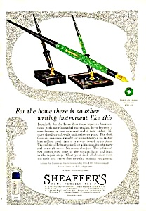 1927 SHEAFFER Fountain Pen Color DESKSET Ad (Image1)