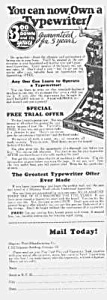 1927 Underwood/shipman-ward Typewriter Ad