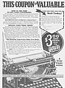 1927 UNDERWOOD TYPEWRITER Ad (Image1)