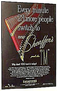 1952 SHEAFFER FOUNTAIN Pen Color Ad (Image1)