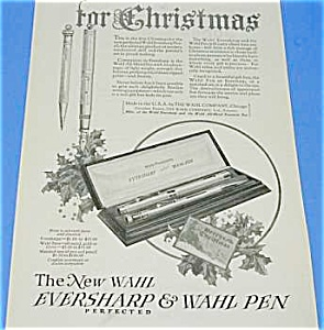 1924 WAHL Fountain Pen/Pencil CHRISTMAS Ad (Image1)