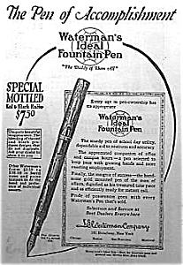 1924 Waterman Fountain Pen Ad